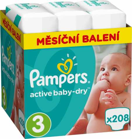 Pampers Active Baby Dry 3 - 208ks